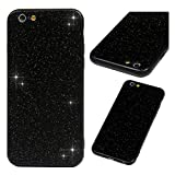 iPhone 6S Case, iPhone 6 Bling Shiny Glitter Sparkle 2 in 1 Armor Case Hybrid Rugged Heavy Duty Shock Absorbtion Drop Resistant Soft TPU Bumper Hard PC Shell Slim Fit Skin Cover for iPhone 6S/6 Black
