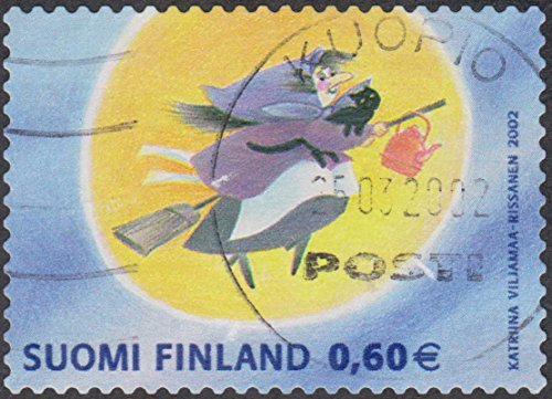 Easter Witch 2002 Finland 0,60e Cancelled Postage (Halloween Postage Stamps)