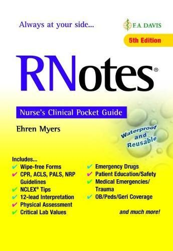 DownloadPDF RNotesR Nurse S Clinical Pocket Guide Kindle Ehren Myers RN