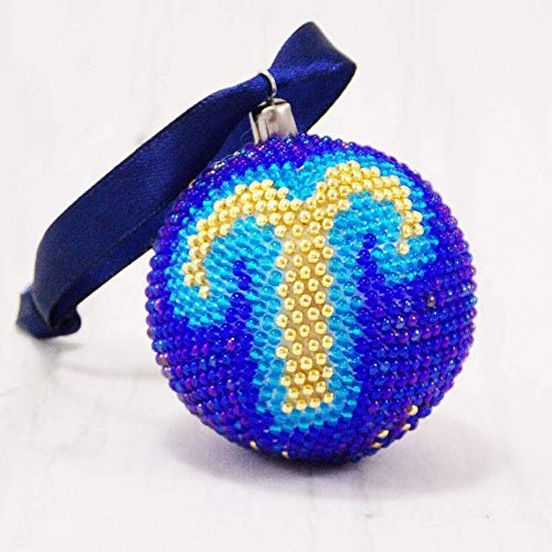 Handmade Aries birthday gift Aries zodiac sign Horoscope Astrology zodiac ornament ball Ram zodiac symbol Celestial decoration March April Birthday - Figural Light