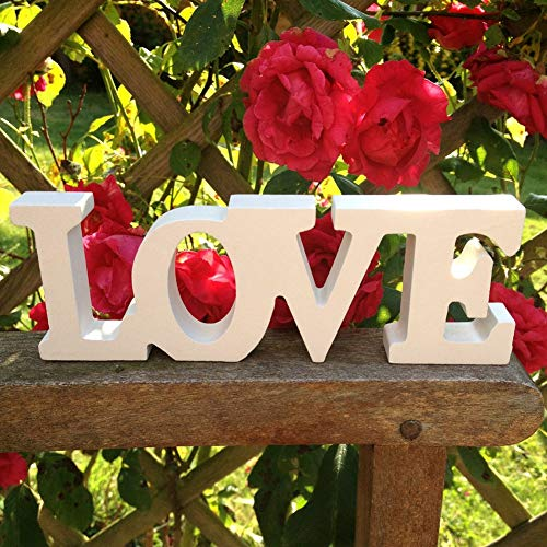 Best Quality - Others - Wooden Letters Sign Love Wooden Free Standing Plaque Decoration Gift - by Kiartten - 1 Pcs - Wood Letter - Unfinished Wood Letter - Hi Letters Wood
