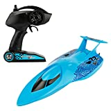 MonkeyJack 3322 Remote Control Boat Mini RC Submarine RC Racing Boat Toy Speedboat Blue
