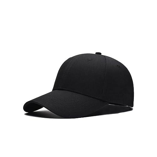 00cf2ed28d37a Men Women New Black Baseball Cap Snapback Hat Hip-Hop Adjustable Caps  (Black)