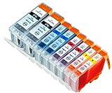 8 Pack Compatible Canon CLI-8 , PGI-5 2 Cyan, 2 Magenta, 2 Yellow, 2 Big Black for use with Canon Pixma iP3300, Pixma iP3500, Pixma MP510, Pixma MP 520, Pixma MX700. Ink Cartridges for inkjet printers. PGI-5-BK, CLI-8-C, CLI-8-M, CLI-8-Y © Blake Printing Supply