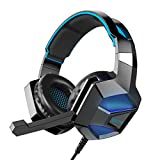 COOAU CU002 Stereo Gaming Headset with Mic, LED Lights, Volume Control for PS4, PC, New Xbox One, iPad, Laptop, Smartphones, Noise Cancelling Over-Ear Headphones with 3.5mm Plugs and USB Plugs Review
