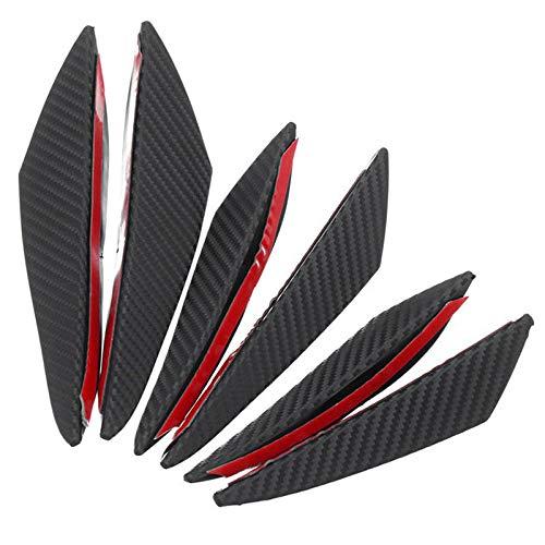 Coomir 6 PCS Universale in Fibra di Carbonio Occhio Anteriore dell' Auto paraurti Pinne massime Wing Lunga Splitter