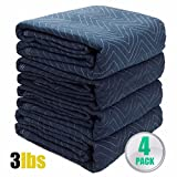 4pc Moving Blankets Bundle 72x80'' Econo Professional Quilted Moving Pads packing