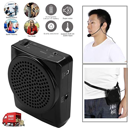 FidgetKute Portable Waistband Voice Amplifier Changer Sound Booster Loud Speaker Microphone Show One Size