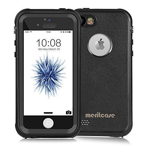 宝石団結達成Merit iPhone SE iPhone 5 iPhone 5S 防水ケース 5S 防水ケース アイフォン 5S ケース 防雪 防塵 防埃 耐衝撃 IP68防水レベル ブラック