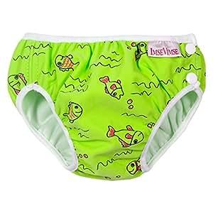 Imse Vimse Cloth Swim Diaper Green Fish XL(24-30lbs)