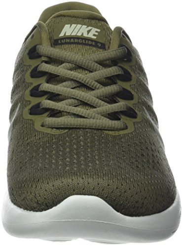 Nike Men's Lunarglide 9 Running Shoes Green (Medium Olive/Dark Stucco/Black 200) YkIDc