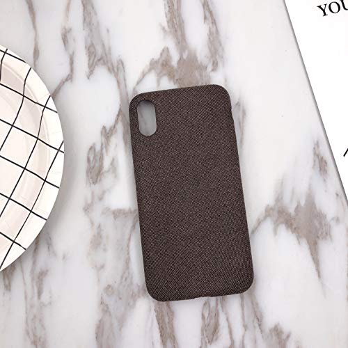 Phone Case,Ultra Thin Felt Mobile Phone Shell Flannel Bottom Soft Shell for iPX Mobile Phone(Brown)