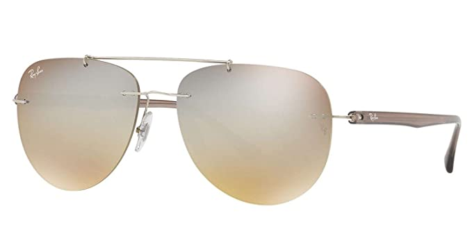 Image Unavailable. Image not available for. Color  Ray-Ban Men s RB8059 003  B8 Non-Polarized Sunglasses, Silver Brown 6dac196867e3