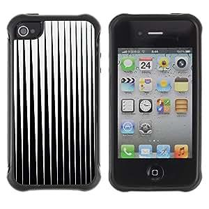 LASTONE PHONE CASE / Suave Silicona Caso Carcasa de Caucho Funda para Apple Iphone 4 / 4S / Black White Minimalist Abstract Vertical