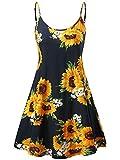 MSBASIC Flower Dresses, Junior Summer Dresses for Women Sunflower1 XS
