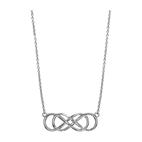 Large Sideways Double Infinity Symbol Charm and Chain Best Friends