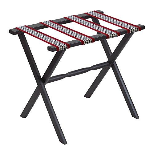 Gate House Furniture Straight Leg Designer Series Wood Luggage Rack, (Scheibe Luggage)