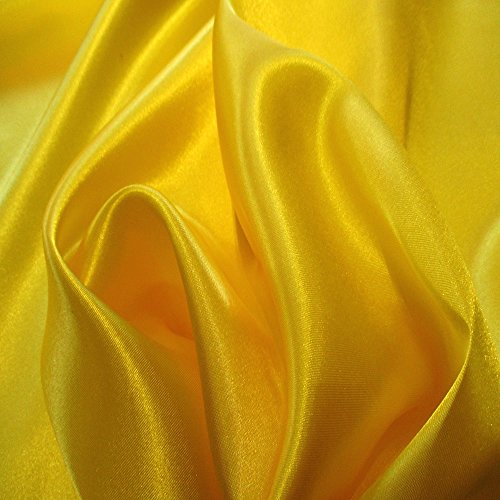 Yummy Yellow 10 Charmuse Satin 100% Polyester 58 Inch Wide Order By the Yard JN00010