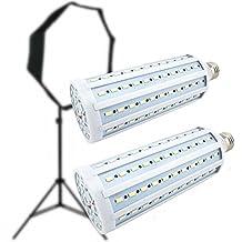 CanadianStudio Pro 2x 40 watt LED 5500K 144 pc LED Continuous Pure White Light Output (Lm) 3500 Light Bulb