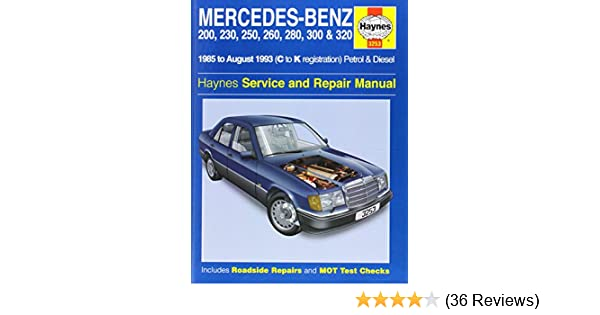 mercedes benz 124 series 85 93 service and repair manual haynes rh amazon com haynes manual reviews Clymer Manuals