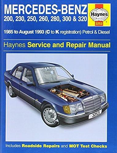 mercedes benz 124 series 85 93 service and repair manual haynes rh amazon com 1995 Mercedes E320 2005 Mercedes E320