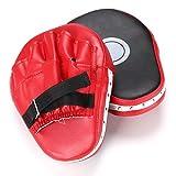 mma target - Hipiwe 2pcs MMA Focus Punch Mitts PU Leather Kicking Palm Pads Camber Taekwondo Training Boxing Target Pad with Adjustable Strap