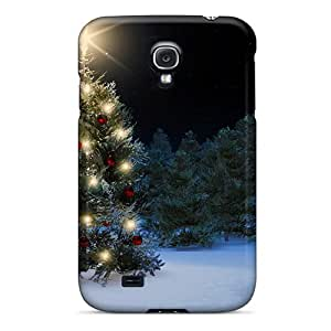 Premium Protection Snowman Christmas Tree Case Cover For Galaxy S4- Retail Packaging