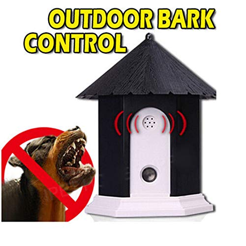 FidgetGear Ultrasonic Outdoor Dog Bark Control System Pet Stop Barking Anti Bark Trainer Black