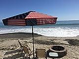 Commercial Grade UV 45 MPH Wind Resistant 9ft Patio Umbrella (Patriot American Flag)