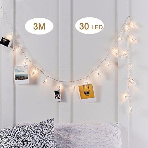 - 51pA10K5UPL - LINKIM LED Photo Clips String Lights solar led - 51pA10K5UPL - Home