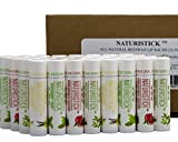 All Natural Beeswax Lip Balm - 32 Bulk Pack by Naturistick. Best Healing Chapstick for Dry, Chapped or Damaged Lips. With Aloe Vera, Vitamin E, Coconut Oil. For Men, Women and Kids. Made in USA. …