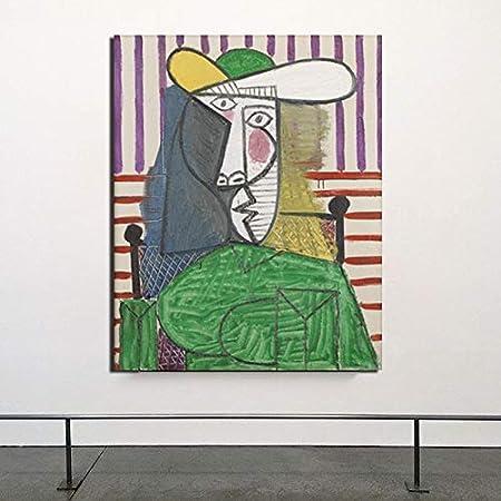 YuanMinglu Pintor Abstracto Llorando Mujer Serie Lienzo Pintura Sala de Estar Moderna decoración del hogar Arte de la Pared Pintura al óleo póster Cuadro sin Marco Pintura 45x56 cm