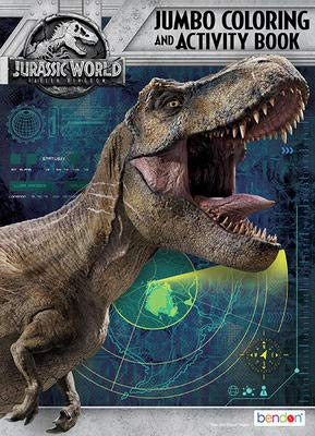 Jurassic World Coloring /& Activity Book Play Pack Gift Set Bendons