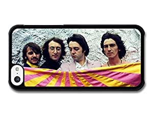 AMAF ? Accessories The Beatles Photo shoot with Pink and Yellow Flag case for iPhone 5C