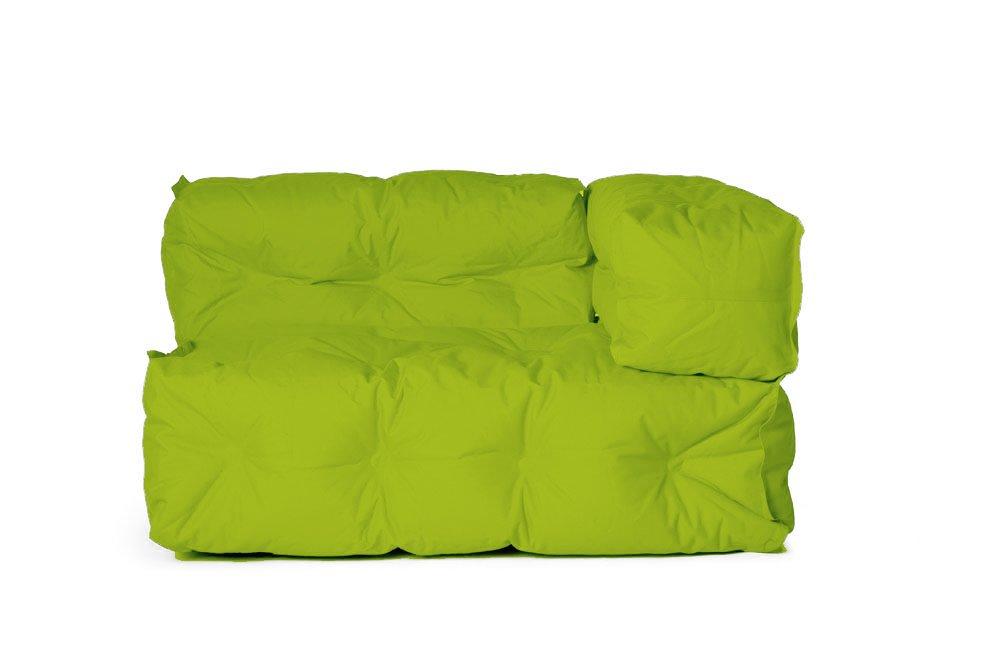 Outdoor Couch II von Sitting Bull, 127 x 73 x 89cm, ausgeklappt 155 x 73 x 89cm, grün