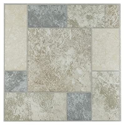 Achim Imports FTVGM32745 Tivoli Marble Blocks 12x12 Self Adhesive Vinyl Floor Tiles/45 Sq Ft, Piece