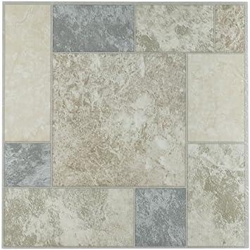 FTVMA42520 Nexus 12-Inch Vinyl Tile 20-Pack Flooring Marble Travatine