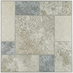 Achim Imports FTVGM32745 Tivoli Marble Blocks 12x12 Self Adhesive Vinyl Floor Tile-45 Tiles/45 sq. ft, Piece