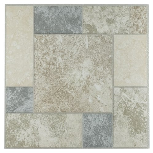Achim Imports FTVGM32745 Tivoli Marble Blocks 12x12 Self Adhesive Vinyl Floor Tile-45 Tiles/45 Sq. Ft, Piece, 45