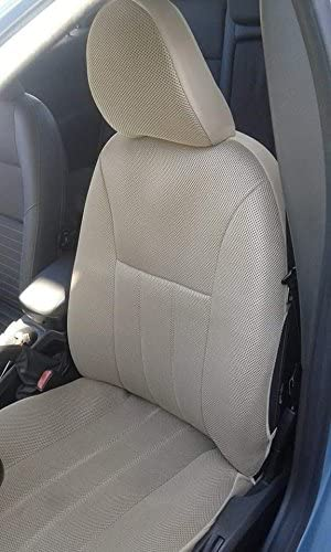 Amazon Com Topcar Athens Two Front Classic Synthetic Custom Car Seat Covers Volvo Xc90 2002 2006 Tan Beige Automotive