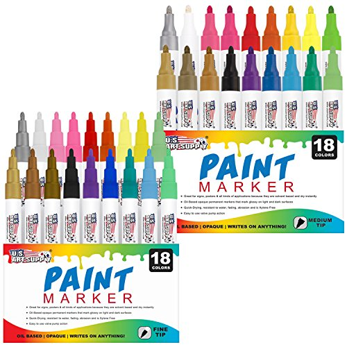 us-art-supply-set-of-36-oil-based-paint-pen-markers-18-colors-both-medium-and-fine-point-tip-sets