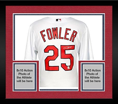 Framed Dexter Fowler St. Louis Cardinals Autographed Majestic White Replica Jersey - Fanatics Authentic Certified