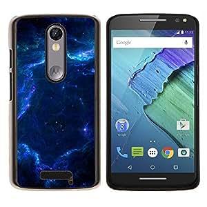 Caucho caso de Shell duro de la cubierta de accesorios de protección BY RAYDREAMMM - Motorola MOTO X3 3rd - Espacio Galaxy