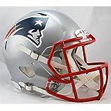 Riddell NFL New England Patriots Speed Authentic Football Helmet, Red