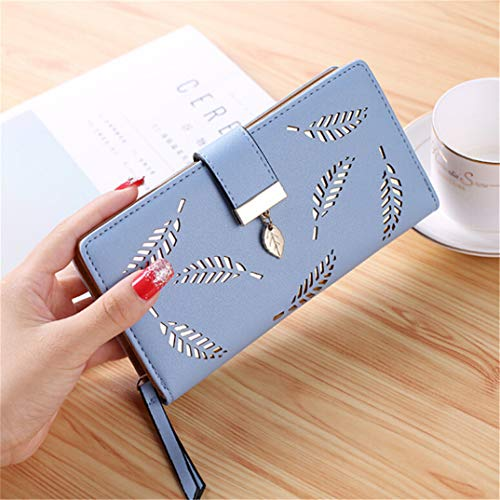 Coin Capacity U Europe Buckle Zipper Purse Clutch And wallet High Women The Joofff Bag With Blue s c7FSWq8P4