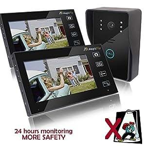 """Magicfly 7"""" Wireless Video Door Phone Doorbell Intercom System with Ir Camera Waterproof"""
