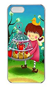 iPhone 5 5S Case Cute Girl Christmas Gifts PC Custom iPhone 5 5S Case Cover Transparent
