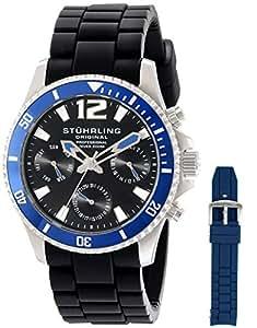 Stuhrling Original Men's 805R.SET.01 Aquadiver Regatta Endurance Watch Set with Interchangeable Straps
