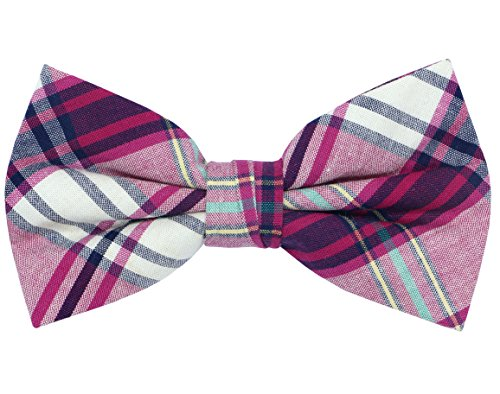 OCIA Mens Cotton Plaid Handmade Bow Tie -OM61