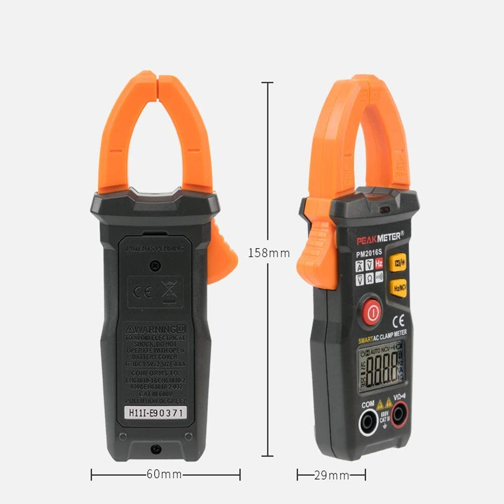 WY-YAN HZR Intelligent AC clamp Meter Small Ammeter 200A Electric multimeter 6000 Count,2016S